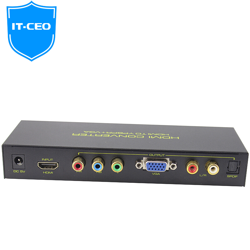 JD Коллекция hdmi to ypbpr video converter rgb 5rca component stereo audio hd for ps3 tv