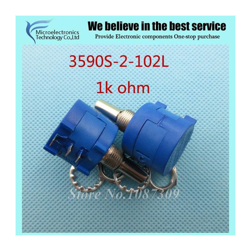 CazenOveyi 5pcs lot 3590s 2 101l 3590s 100 ohm precision multiturn potentiometer 10 ring adjustable resistor