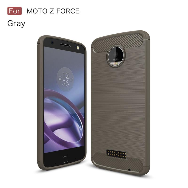 GANGXUN Серый цвет Обложка для  Motorola Moto Z Force