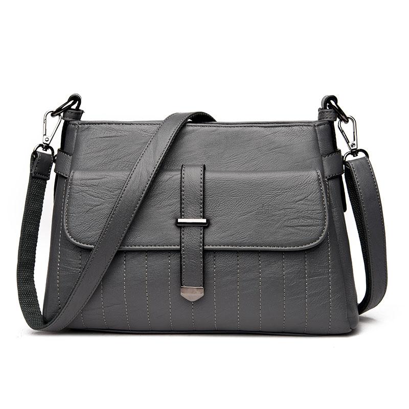 Kavard Серый женские кожаные дизайнеры высокое качество в полоску седло сумка женская винтажная сумка sac основной небольшая сумка сумки