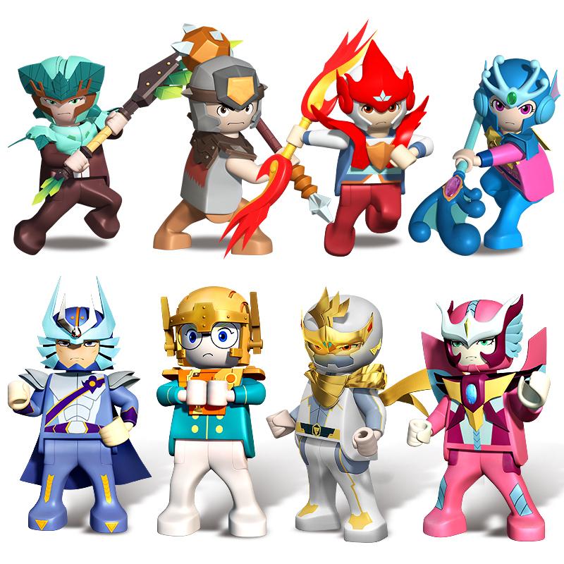 JD Коллекция Восемь кукол костюм octa angle ru bun lock children puzzle toy building blocks