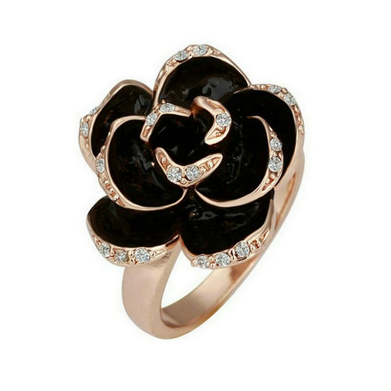 yoursfs Роза золотой 8 yoursfs zircon кольцо кольцо с золотым кольцом кольцо с бриллиантами кольцо с бриллиантами anillos anel кольцо для обручального кольца для женщин