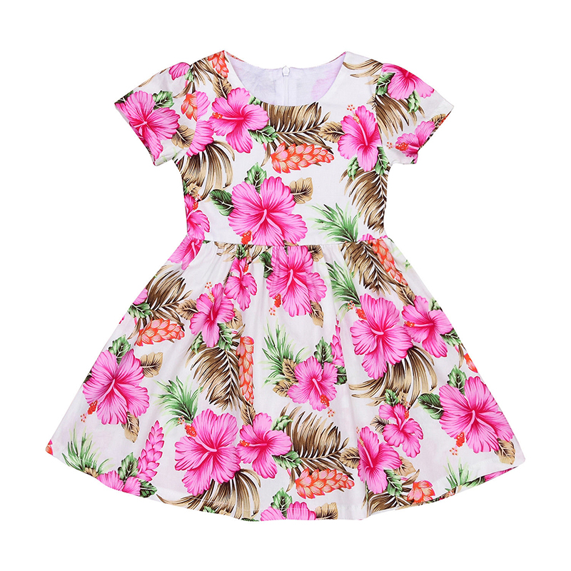 CANIS Розовый 7-8Years new arrivals summer dress kids girls toddler princess dress plaid cotton sleeveless kids baby party pageant dress clothes outfit