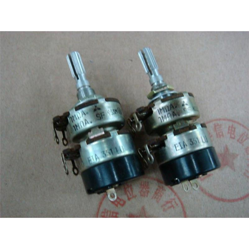 CazenOveyi alps ec11 double shaft encoder dual with switch 2 in 30 positioning 15 pulse potentiometer shaft length 30mm