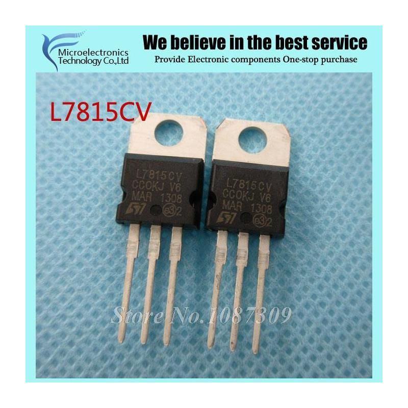 CazenOveyi 50pcs l7815cv to220 l7815 to 220 7815 lm7815 mc7815 new and original ic free shipping