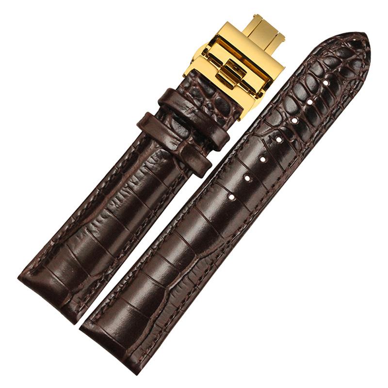 BOLISI Темно-коричневый Современный men s genuine leather watch strap for panerai calfskin leather watchstrap for pam111 male watchband montre pulseras masculino