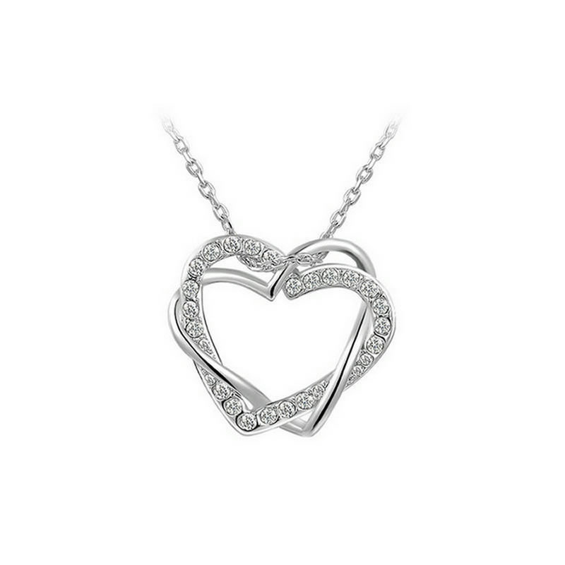 yoursfs Серебряный yoursfs 18k rose white gold plated letter best mum heart necklace chain best mother s day gift