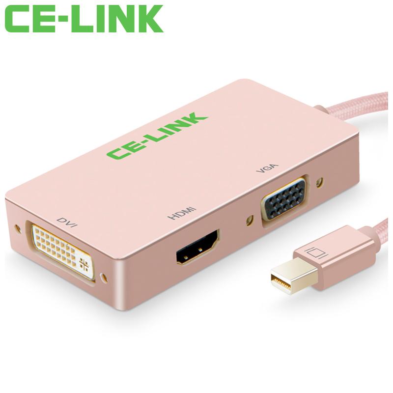 JD Коллекция Mini DP к VGA HDMI DVI12 кабель создание mini dp dp hdmi dvi тройной трансфицировал мини displayport адаптер конвертера подключены проекционный телевизор macbook белого cd0016