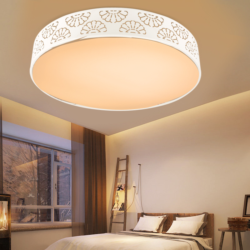 JD Коллекция [супермаркет] jingdong hd led потолочного света 18w серии белых снежинок круглая спальня потолок лампа современный минималистский ресторан