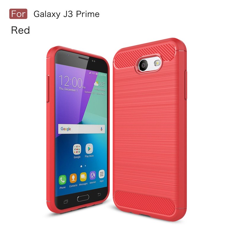GANGXUN Красный samsung galaxy j3 prime case anti slippery устойчивость к царапинам противоударная легкая крышка бампера для galaxy j3 prime
