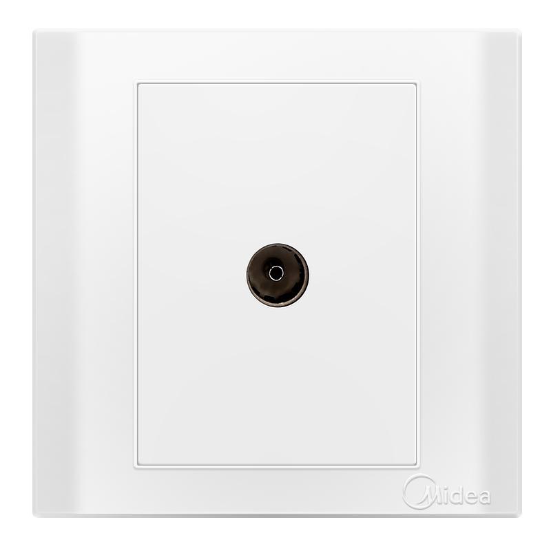 Midea Одноместный элегантный белый телевизор сокет E03 дефолт joycollection