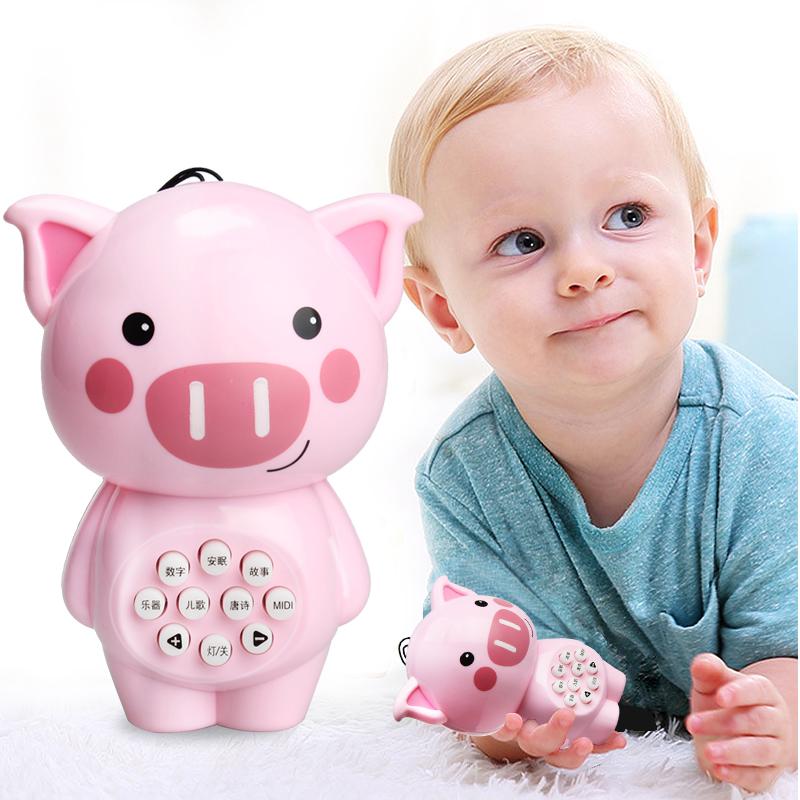 JD Коллекция Mini свинья история машина дефолт ulti керри aozhijia раннего детства образовательные детские игрушки умиротворить manhattan кэдди gutta молочные зубы могут укусить схватив мяч 1688 a