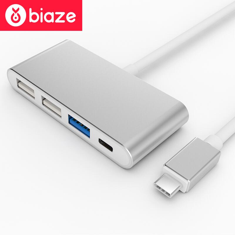 BIAZE mo миши momax type c конвертер hdmi usb c поддержка расширения адаптер apple macbook huawei подключенный телевизор проектор серебряный mate10