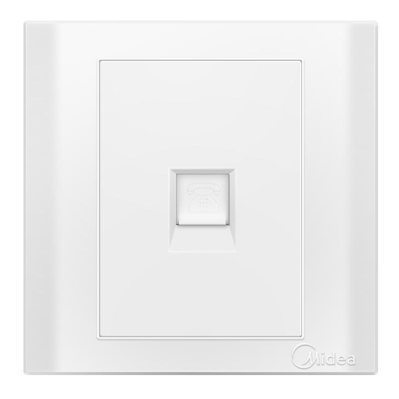 Midea Я белый одиночный телефонное гнездо E03 дефолт joycollection