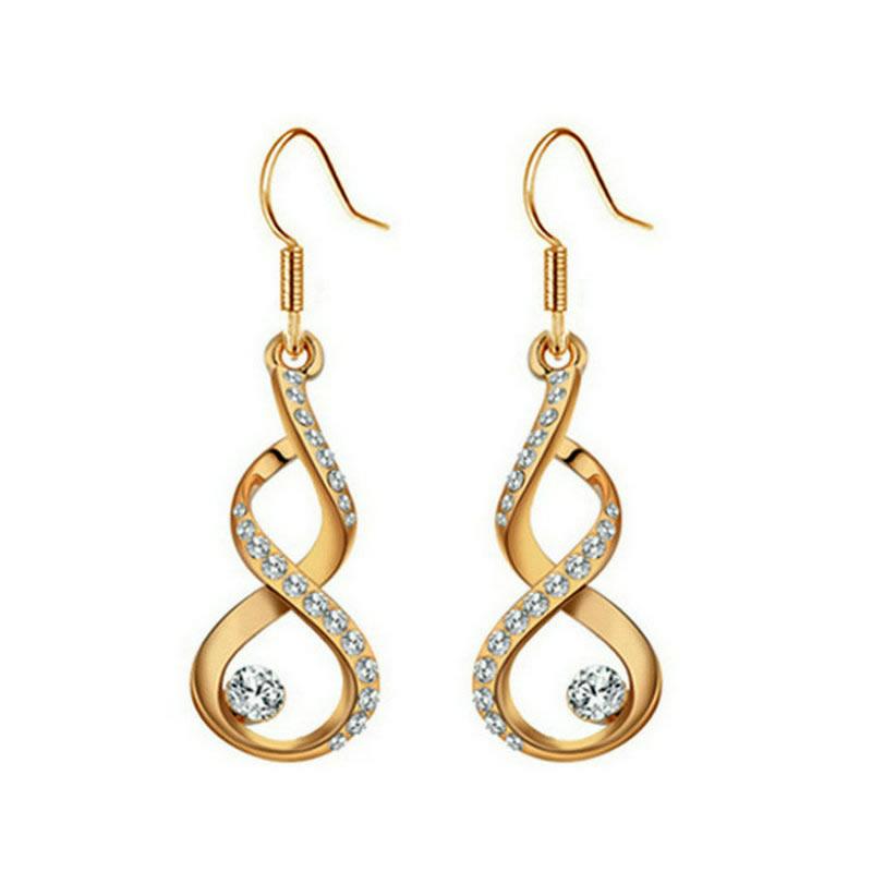 yoursfs Золото yoursfs модные синие кристалл серьги серьги серьги висячие серьги ювелирные изделия для женщин ювелирные pendientes