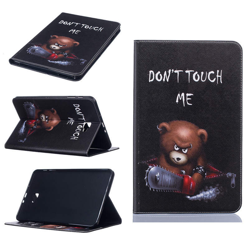 GANGXUN 3 fashion painted flip pu leather for samsung galaxy tab a 10 1 sm t580 t585 t580n 10 1 inch tablet smart case cover pen film