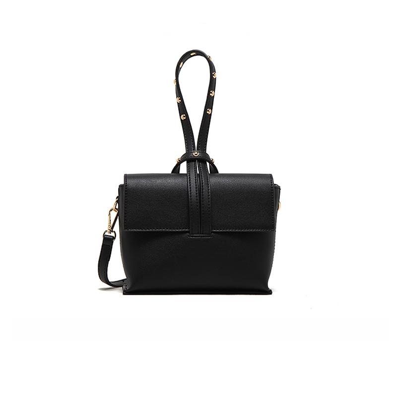 MICOCAH Чёрный цвет 2017 hot sales female fashion women cute messenger bags rivet shoulder bag leather crossbod new brand a8