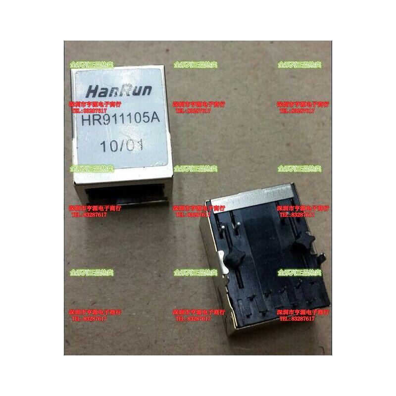 CazenOveyi free shipping 10pcs lot hr911105a wiznet hr911105 hanrun single port rj45 connector o 100% new original