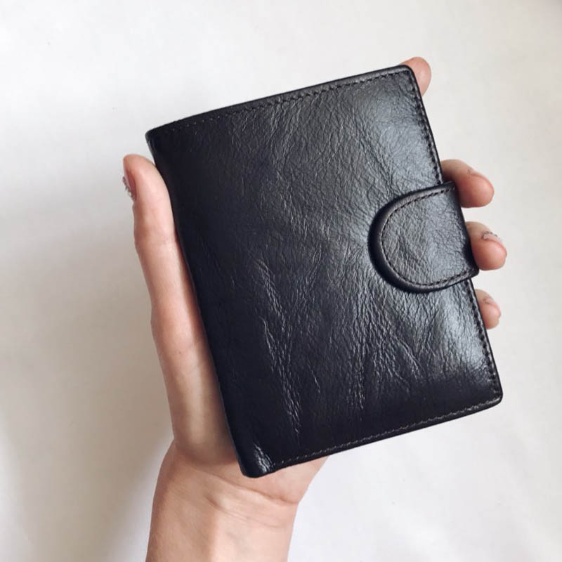 DALFR кофе aoeo genuine leather men wallets short coin purse small vintage wallet cowhide leather card holder pocket purse men wallets mini
