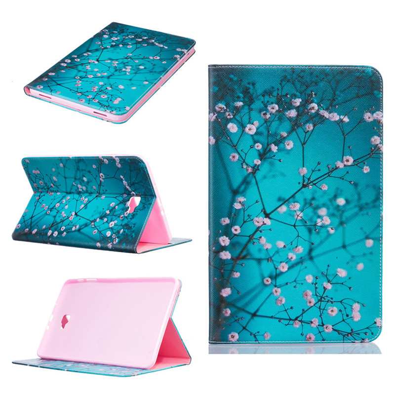 GANGXUN 9 slim magnetic stand smart pu leather cover case for samsung galaxy tab a 10 1 2016 t585 t580 sm t580 t580n tablet cases film pen