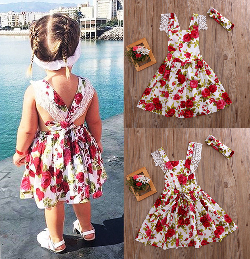 CANIS 2-3Years children enfant toddler girls kid lace chiffon flower wedding bridesmaid pageant party formal dress kids girl cute dresses 3 12