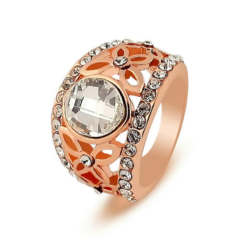 yoursfs Роза золотой 8 кольца