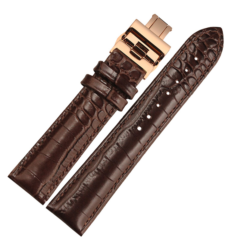 BOLISI Коричневый цвет soft leather smooth black brown watchband with folding buckle 22mm watch accessories bands for brand fashion hours men strap new