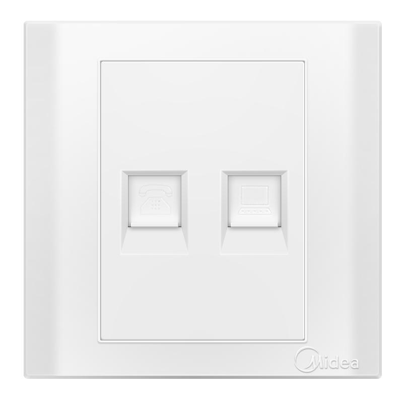 Midea Телефон компьютер гнездо элегантный белый E03 дефолт