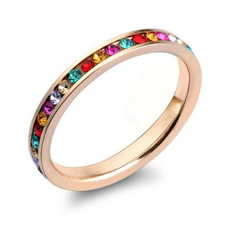 yoursfs Многоцветный 8 кольца