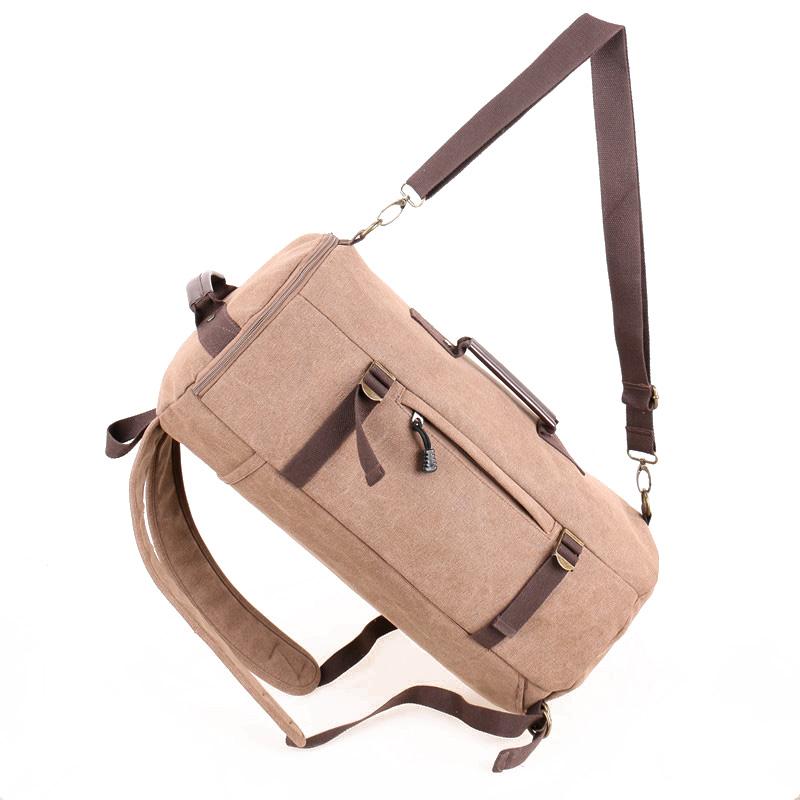 YEMIGE Кофейный ретро рюкзак мужчина пар рюкзак брезент сумка рюкзак для подростков туризм спортивная сумка кемпинг