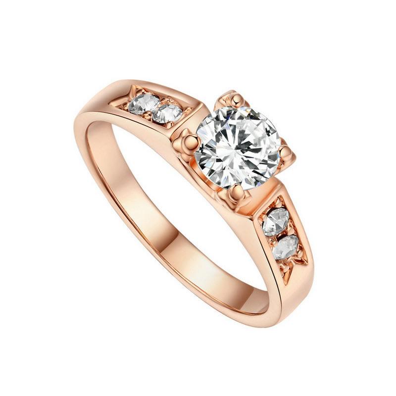 yoursfs Золото 7 у7 обручальные кольца для женщин свадебные 2015 оптовая 18k позолоченный кубического циркония ааа любви сердце кольца обручальные кольца