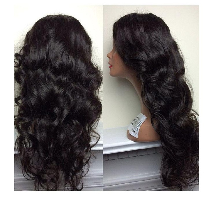 парик BOND 20 inches bond products heat resistant fiber hair wigs brown color glueless wavy synthetic wigs
