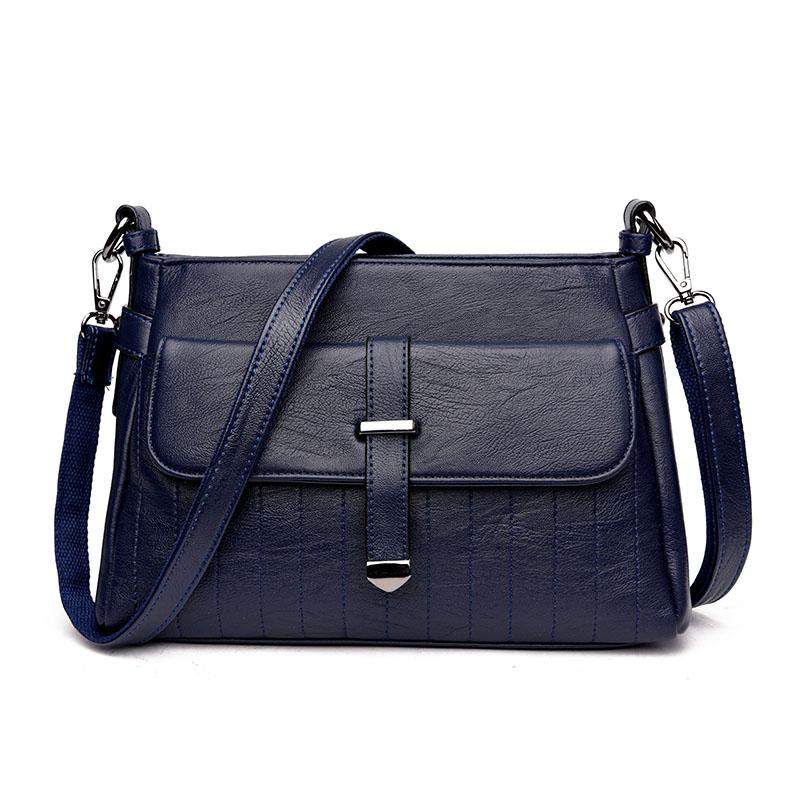 Kavard Синий женские кожаные дизайнеры высокое качество в полоску седло сумка женская винтажная сумка sac основной небольшая сумка сумки