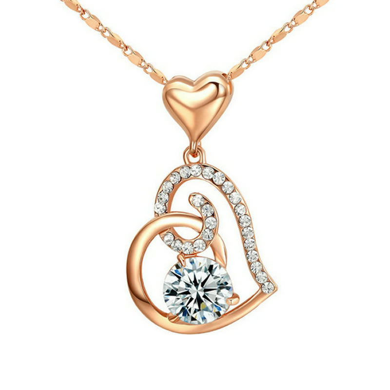 yoursfs Роза золотой yoursfs 18k rose white gold plated letter best mum heart necklace chain best mother s day gift
