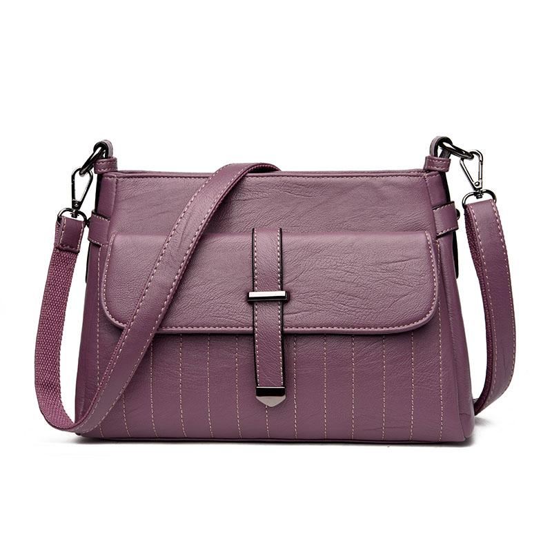Kavard Фиолетовый женские кожаные дизайнеры высокое качество в полоску седло сумка женская винтажная сумка sac основной небольшая сумка сумки