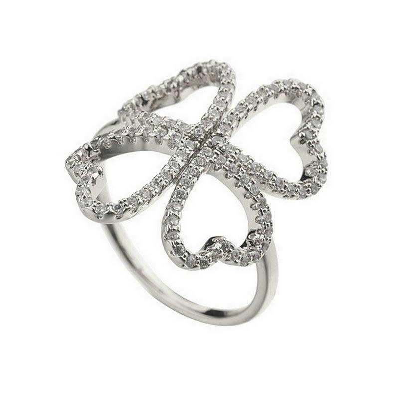 yoursfs Серебряный 8 yoursfs фирменное сердце кольца сердце кольцо комплект для женщин анель включает кольца кольцо обручального кольца падения