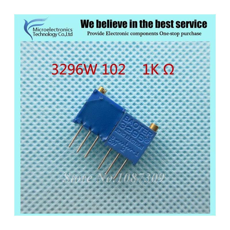 CazenOveyi 10pcs lot 3296w 1 503lf 3296w 503 50k ohm top regulation multiturn trimmer potentiometer high precision variable resistor