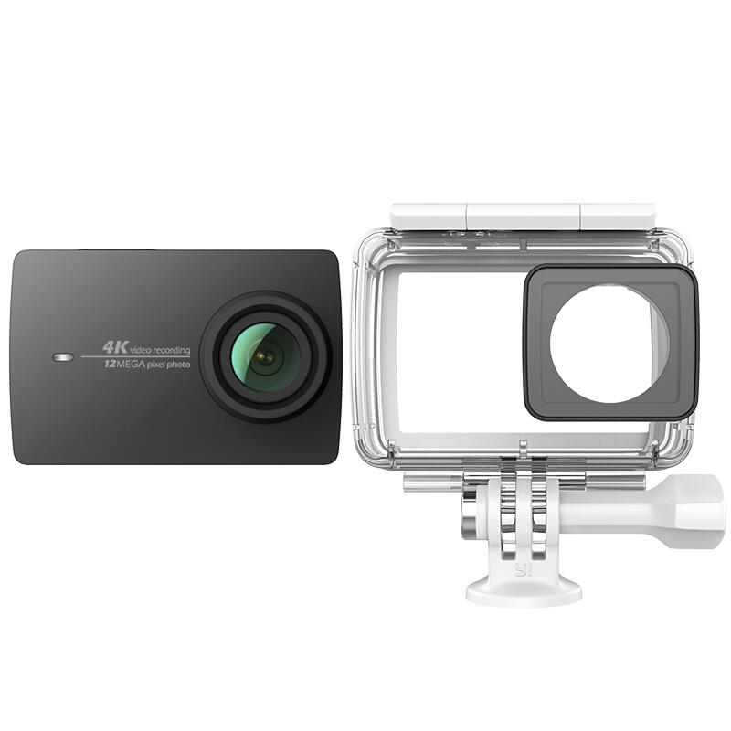 Yi версия 4K черный видеокамера экшн yi 4k комплект с аквабоксом черный