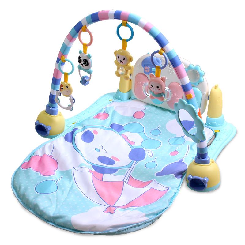 JD Коллекция Розовый педаль фортепиано фитнес стойки 1 доктор doll dr b раннего детства образовательные детские игрушки детские фитнес стеллаж новорожденных лапка цветка детский фитнес кадр