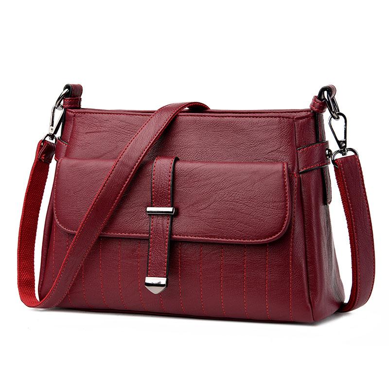Kavard Красный цвет женские кожаные дизайнеры высокое качество в полоску седло сумка женская винтажная сумка sac основной небольшая сумка сумки