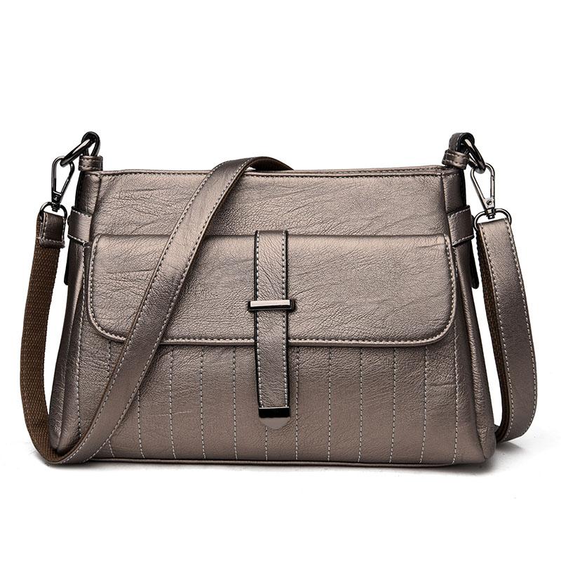 Kavard Цвет шампанского женские кожаные дизайнеры высокое качество в полоску седло сумка женская винтажная сумка sac основной небольшая сумка сумки