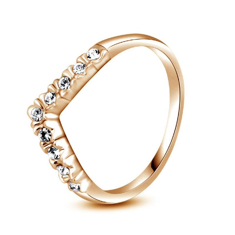 yoursfs Роза золотой 6 кольца