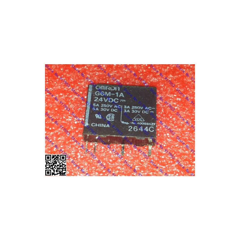 CazenOveyi 10pcs free shipping g6m 1a 24v g6m 1a 24vdc g6m 1a 24vdc relays power pcb relay sp no sil 24vdc new original