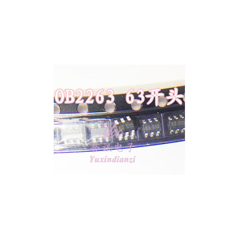 CazenOveyi free shipping 10pcs ob2263mp ob2263 chip type is 63a lcd 236