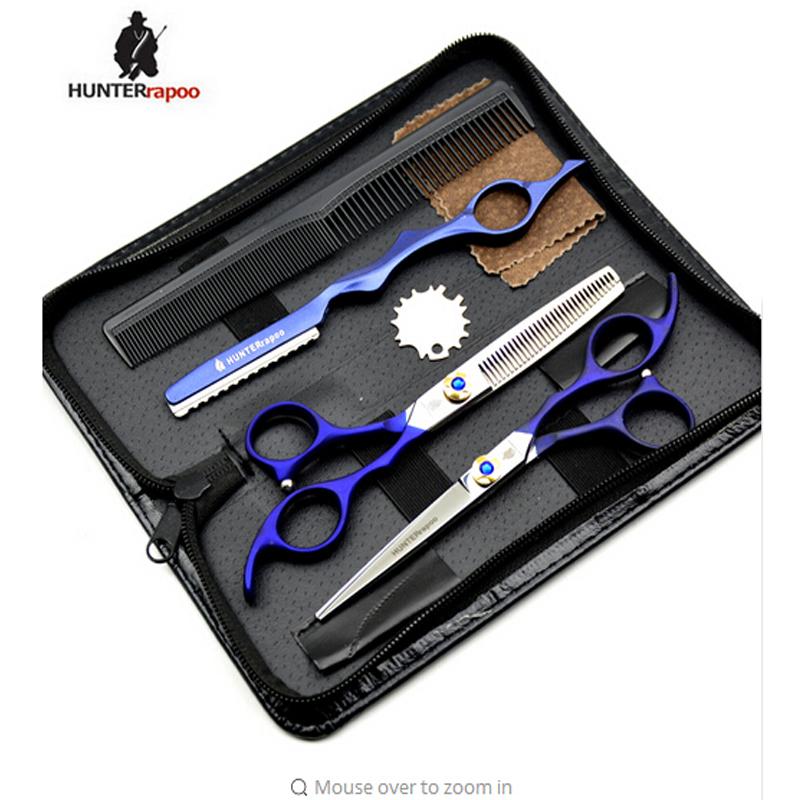 HUNTERrapoo 6 дюймовая многоцелевой ножницы ht9214 профессиональных волосы ножницами набор дешевый стрижка ухаживание красоты парикмахерская