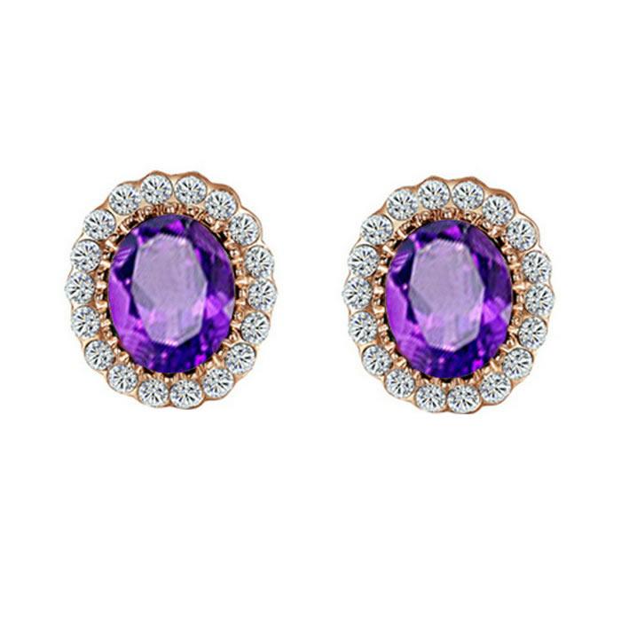 yoursfs Пурпурный yoursfs модные синие кристалл серьги серьги серьги висячие серьги ювелирные изделия для женщин ювелирные pendientes