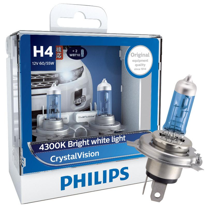 JD Коллекция дефолт H4 автомобильная лампа h4 crystal vision w5w philips 4300k