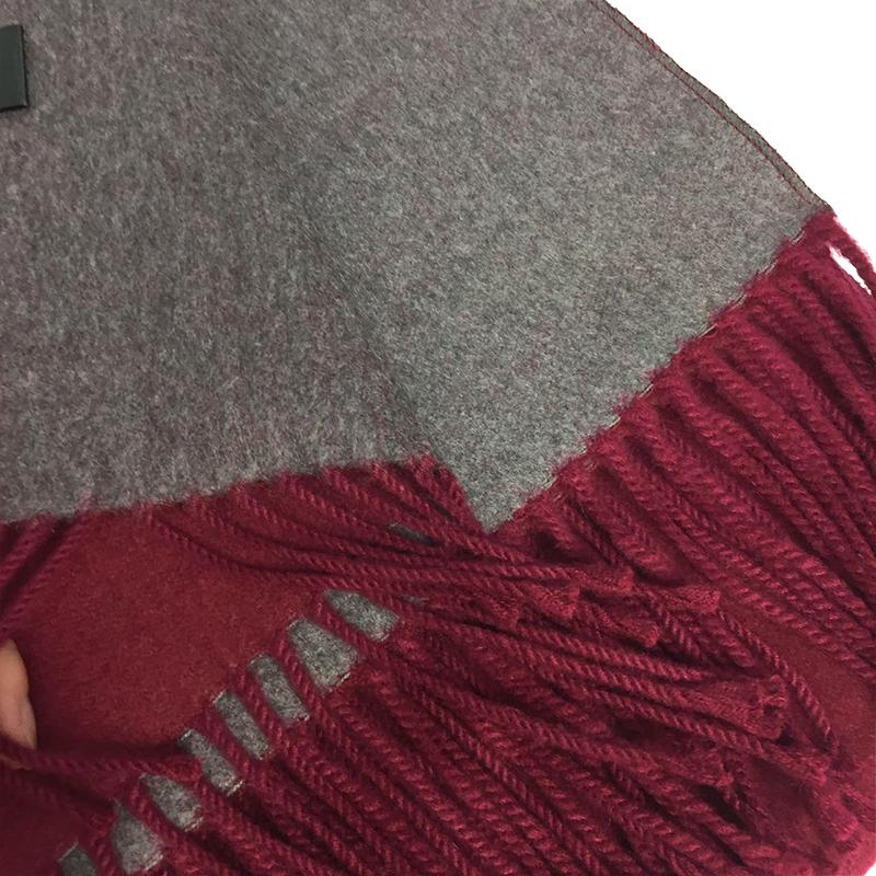 MEGIR wine red 175cm woolly boolly шарф