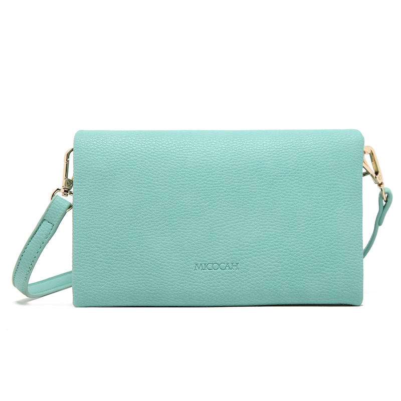 MICOCAH Зелёный цвет micocah women simple double color buckle buckle shoulder bag chain messenger bag gn40021