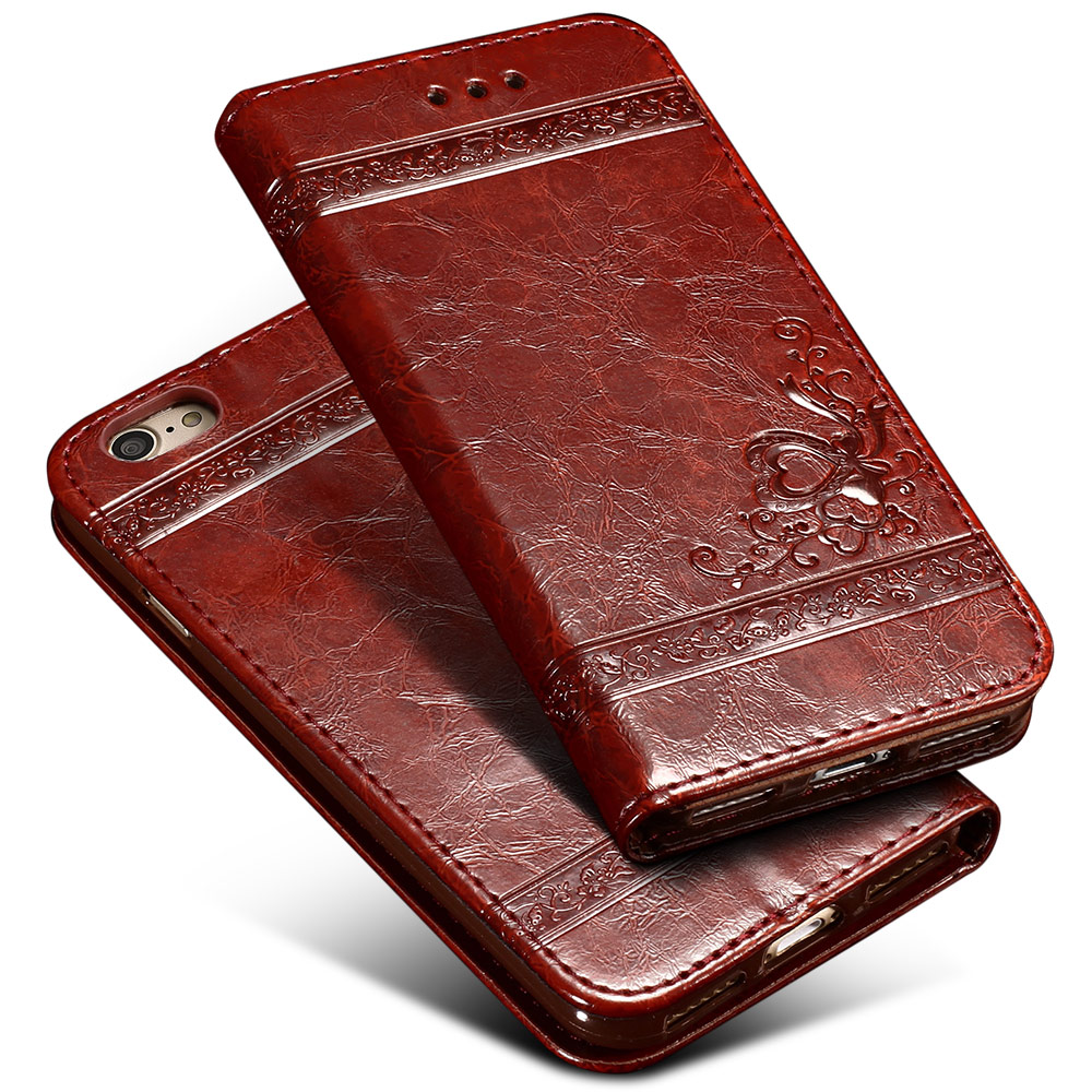 keymao Серый цвет roar korea noble leather stand view window case for iphone 7 4 7 inch orange